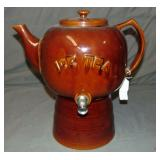 Ice Tea Pot Form Dispenser with Base