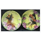 (2) Gazo Fudji Art Nouveau Porcelain Chargers