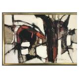"""Gino Hollander, Abstract """"Red, White & Black"""""""