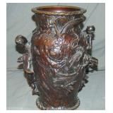 Signed Oriental Bronze Vase