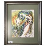 Zamy Steynovitz, Watercolor After Chagall