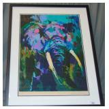 Leroy Neiman. Elephant. Limited Signed.