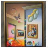 Fernando de Jesus Oliveira  (born 1946) Acrylic.