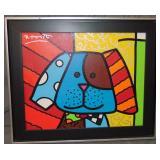 Romero Britto  (born 1963) Original Acrylic.