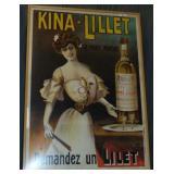 1904 Original French Kina-Lillet Wine Poster.