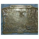 Bronze Plaque Signed Battaggi.