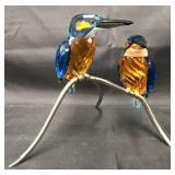 Swarovski Crystal Kingfishers Blue Turquoise Birds