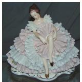 Dresden Style Porcelain Crinoline Figurine