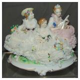 Unterweissbach Porcelain Crinoline Figural Group