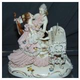 Dresden Style Porcelain Crinoline Figural Group