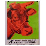 Andy Warhol Cow Exhibition Poster 1971