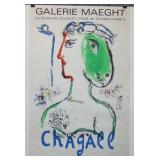 Marc Chagall Galerie Maeght Exhibition Poster