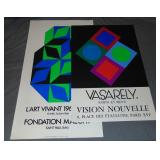 (2) Victor Vasarely Exhibition Posters
