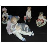 Lladro Figurines. Lot of 4.
