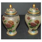 Pair of Plique A Jour Vases.