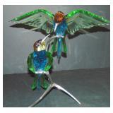 Swarovski. Multi Colored Crystal Birds.