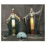 """Erte """"Zeus and Hera"""" Limited Ed Bronze Sculptures"""