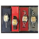 4 Wrist Watches with Boxes, Ingersoll & Westclox