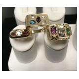 18 Kt Gold Ring Lot of 3