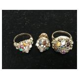 3 Piece Jewelry Lot with Multiple Gemstones