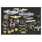 Lot of U.S. Military Pins & Uniform Insignias
