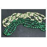 Malachite & Cultured Pearl Necklaces