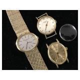 (3) Ladies 18 Kt Wrist Watches