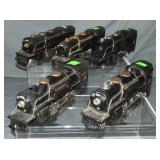 5 Lionel 259E Steam Locos