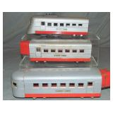3pc Uncataloged Lionel Jr 1700 Streamliner