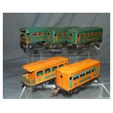 5 Lionel Prewar Passenger Cars