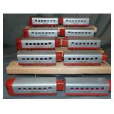 10Pc Uncataloged Lionel Jr Streamline Group