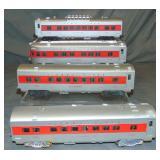 4 Lionel 2444 Series Passenger Cars