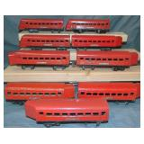 9 Lionel Jr 1670 Series Streamline Cars