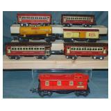 Lionel Jr Litho Freight & Passenger Cars