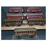 7 Lionel 610 Series Passenger Cars