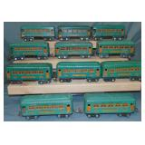 12Pc Lionel 607 Series Passenger Cars