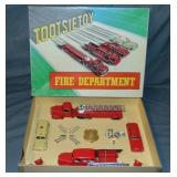 Super Boxed 11pc TootsieToy Fire Dept Set 5211