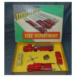 Nice Boxed TootsieToy Fire Department Set 5211