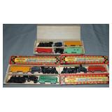 4 Boxed TootsieToy Train Sets