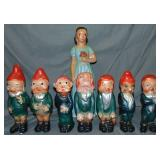 Snow White & the Seven Dwarfs Carnival Statue Set