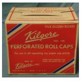 Kilgore Perforated Roll Caps Case.