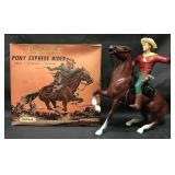 Hartland. Buffalo Bill Pony Express Rider Boxed.