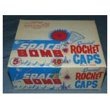 Scarce Space Rocket Caps. Box.