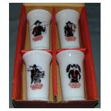 Hopalong Cassidy Milk Glass Tumblers.