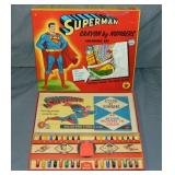 Superman Crayon by Numbers Boxed Set.