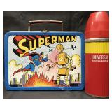Superman vs Robot Lunch Box with Thermos