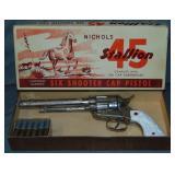Nichols Stallion 45 Cap Gun Boxed.