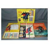 Vintage Zorro Crayon & Pencil Coloring Sets