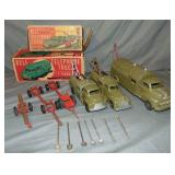 Hubley Bell Telephone Truck Lot with Boxes