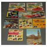 10 Clean 1950s & 1960s Dinky Toys Catalogs